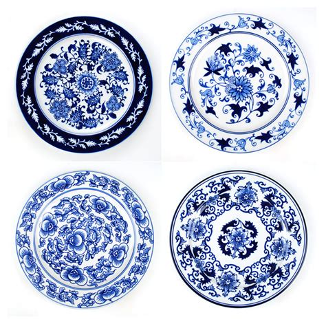 blue and white pattern name ceramics fashion blue and white porcelain hanging plate