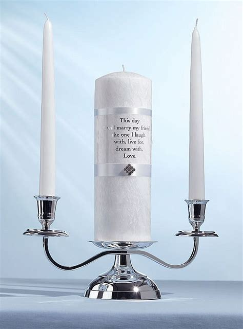 Unity Candle Holder Silver 3 In 1 Unity Candle Holder Wedding Collectibles