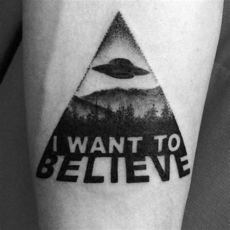 x files tattoo 50 i want to believe designs for x files