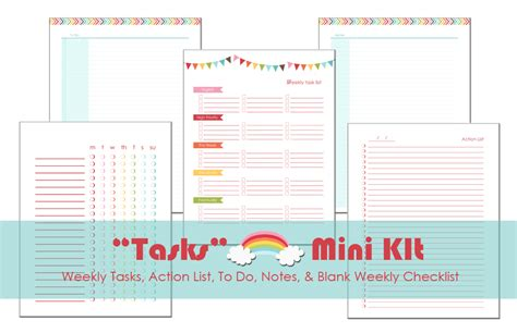 printable planner for mini binder the rainbow planner a bowl full of lemons