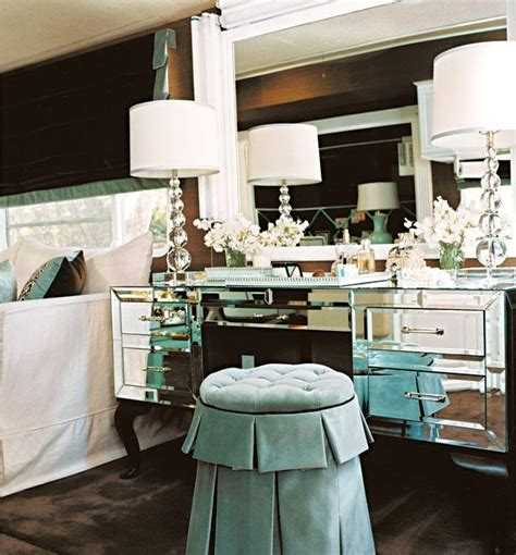 hollywood regency style mirrored furniture bedroom hollywood glam traditional home
