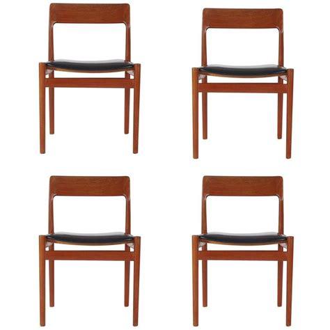 Mid Century Teak Dining Chairs Mid Century Modern Johannes Norgaard Teak Dining Chairs At 1stdibs
