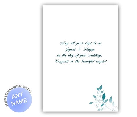 Personalized Best Wishes Wedding Card   Giftsmate