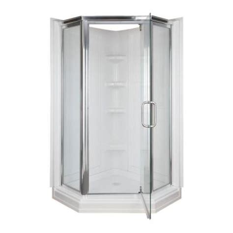 home depot shower 42 in x 42 in x 72 in 2 neo angle corner shower