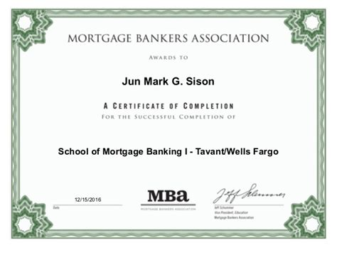 Somb Ii Mba by Sison School Of Mortgage Banking I Tavantwells Fargo