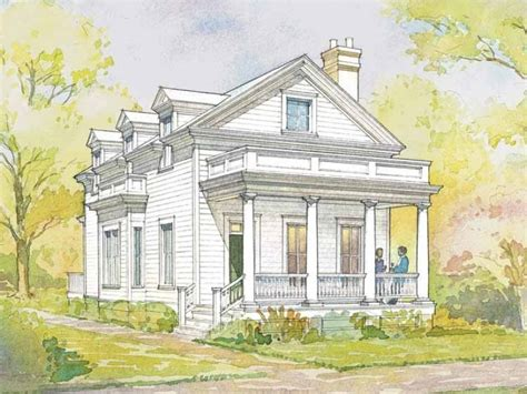 Greek Revival House Plans | greek revival house plan with 1720 square feet and 3