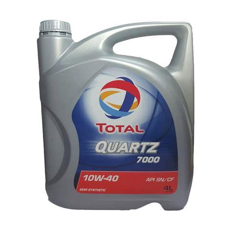 Oli Total Sae 10w 40 Api Sm Quartz 7000 Jual Total Quartz 7000 Sae 10w 40 Api Sn Cf 4 Liter Harga Kualitas Terjamin