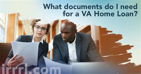 what documents do i need for a va home loan irrrl