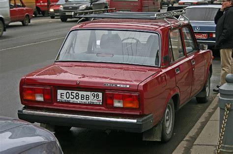 Russian Lada Car Russian Lada 2105 Rear
