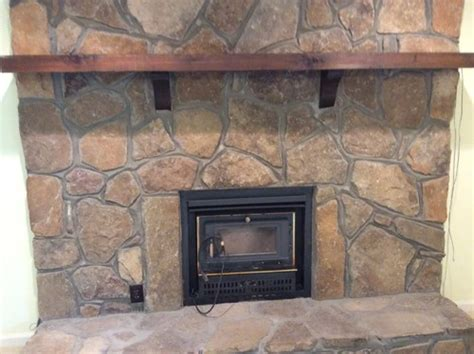 fireplace rock what to do with outdated rock fireplace