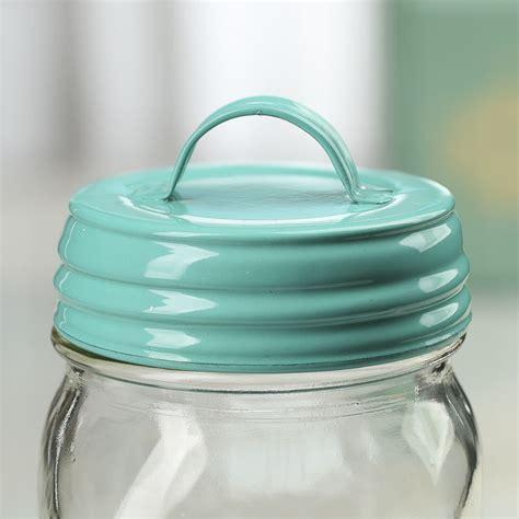 jar lids aqua jar lid with handle jar lids basic craft supplies craft supplies