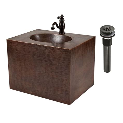 built in bathroom sink premier copper products 24 in wall mount copper vanity