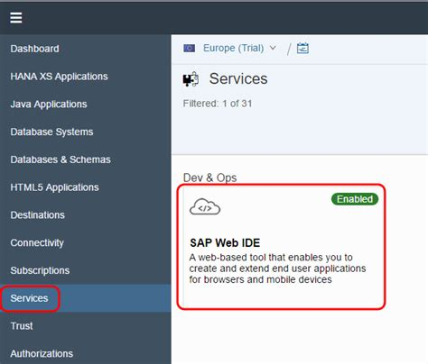 sap tutorial hub creating a project in sap web ide and importing it into