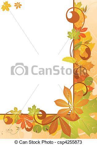 cornice autunno vettori di autunno cornice con foglie e castagna