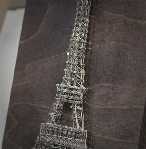 Eiffel Tower String - how to diy eiffel tower create interior painting in the