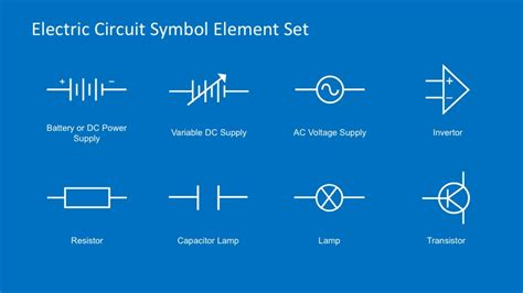 electrical symbol template electric circuit symbols element set for powerpoint