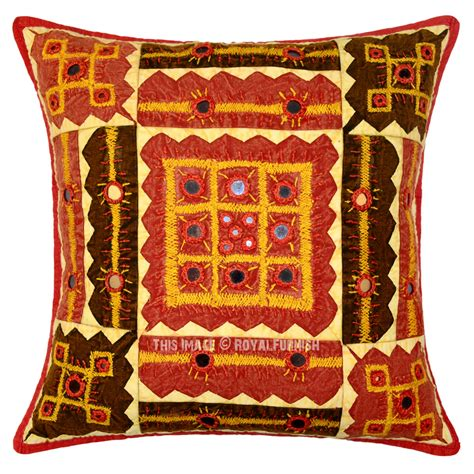 Embroidered Decorative Pillows by Indian Mirror Embroidered Decorative Accent Cotton