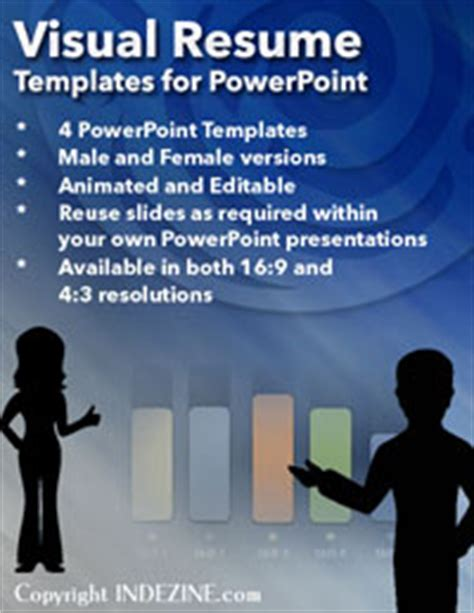 visual resume template for powerpoint powerpoint business kits