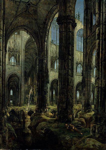Slick Davis Ruins Pariss by Carl Blechen Eglise Gothique En Ruine 1826 Huile Sur