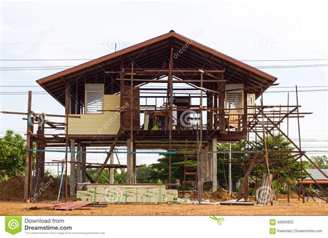 House Structure Reinforced Steel Structure Houses Stock Photo Image