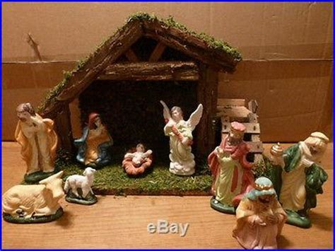 pottery barn nativity set large nativity set with stable and 9 porcelain figures decor world