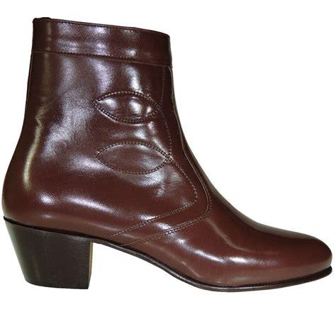 botines de cuero hombre botines hombre piel caoba cremallera tac 243 n cubano suela de