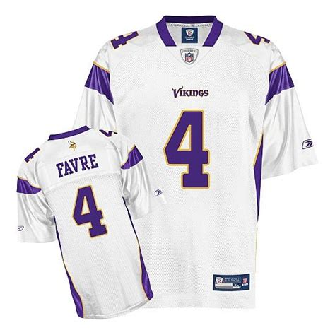 youth youth white brett favre 4 jersey leap p 160 reebok youth replica white road throwback jersey minnesota