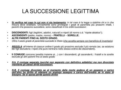 testamento e legittima ppt successione powerpoint presentation id 222834