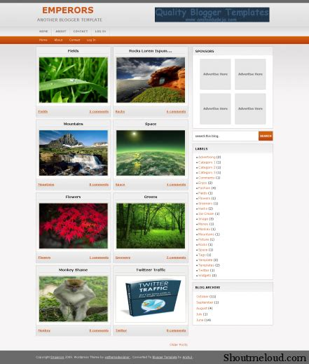 best free and professional photo blog templates for