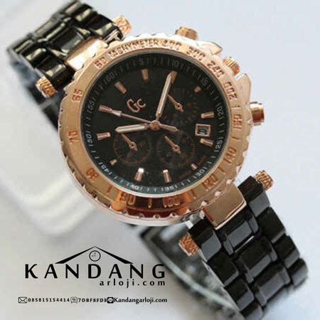 Jam Tangan Pria Wanita Wanita Murah Marc Date Leather Pink Te guess collection gc sport chic femme wanita date chrono