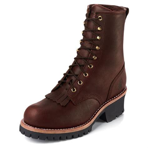 s 8 quot chippewa 174 plain toe logger boots redwood