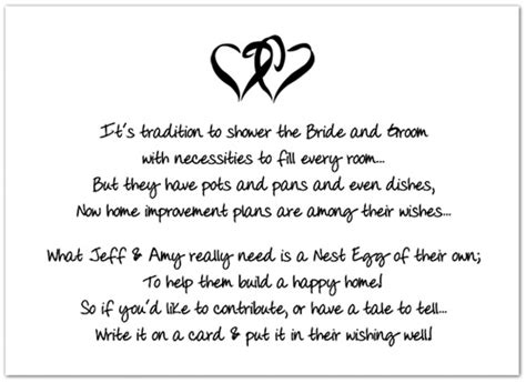 Wedding Registry House Fund by Honeymoon Jar Poem Just B Cause
