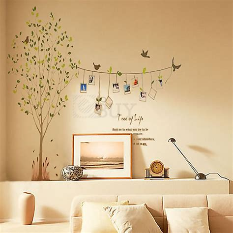 vivid tree words photo frame removable decal wall decor