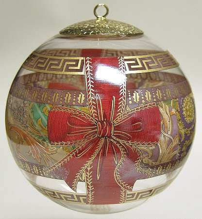 rosenthal versace christmas ornament crystal at