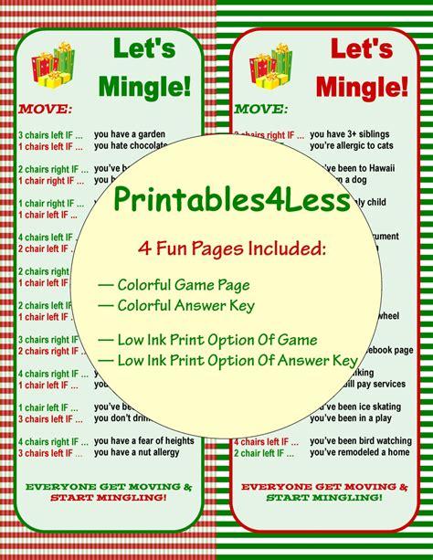 printable christmas ice breaker games christmas ice breaker game christmas party game idea diy