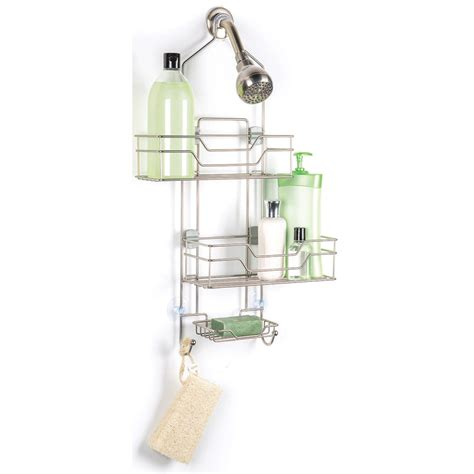 Bathroom Shower Caddy Rust Proof Adjustable Shower Caddy With Sliding Baskets In Shower Caddies
