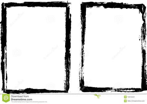 pincel cuadrado photoshop grungy black frame stock vector illustration of