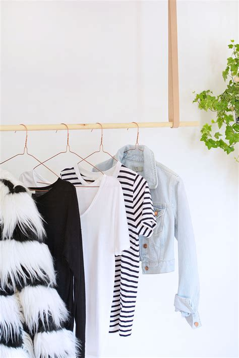diy hanging clothes rail burkatron