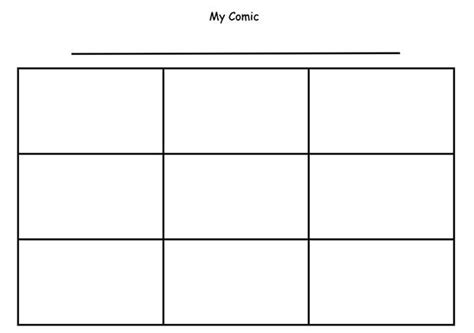 printable comic strip template pdf word pages calendar