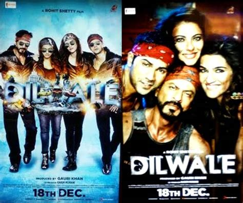 film dilwale dilwale new posters shah rukh khan kajol varun dhawan