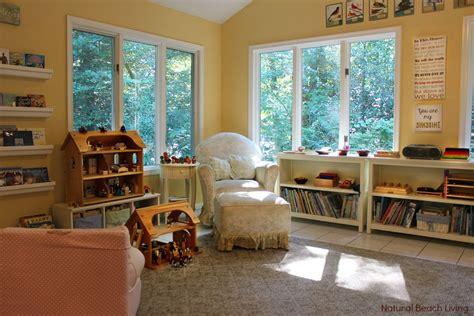 montessori center room montessori waldorf inspired homeschool room living