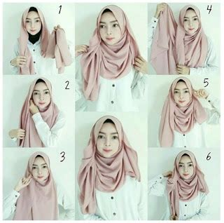 tutorial hijab anak kuliah tutorial hijab simple untuk ke kus kantor dan kuliah