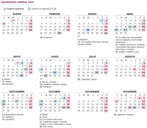 Calendario Laboral Calendario Laboral 2014 Excel Imagui