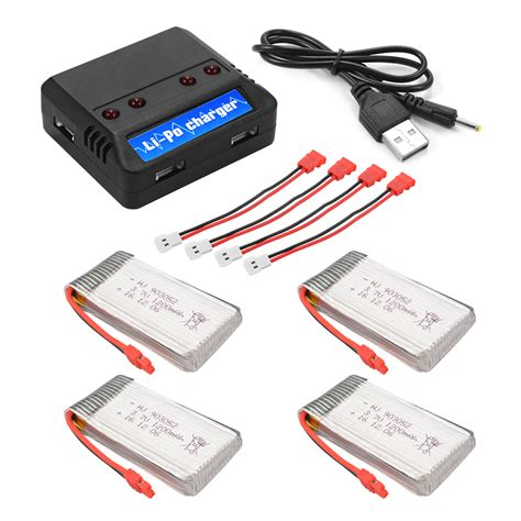 Charger Baterai Syma X5hw X5hc Battery Usb Charger Cable R Berkualitas 4x 1200mah 3 7v 25c battery 4in1 usb charger for syma