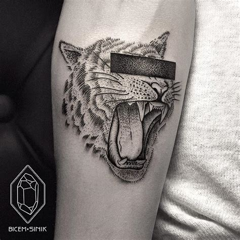 geometric line and dot tattoos by bicem sinik