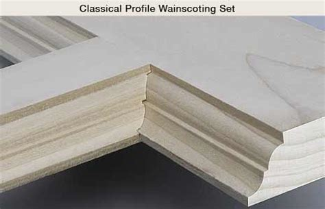 Wainscot Molding Profiles Wainscoting Router Bit Sets Home Improvement Project