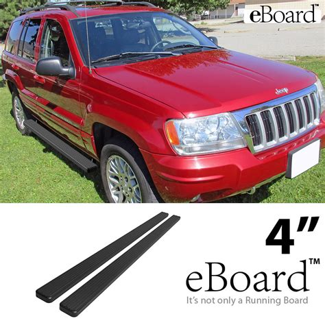Jeep Running Boards Eboard Running Boards Matte Black 4 Quot 99 04 Jeep Grand
