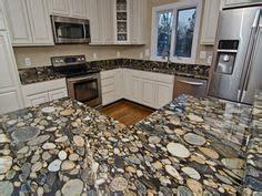 River Rock Kitchen by Granite Kitchen Oak Kitchens And Parquet Wood Flooring On