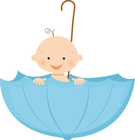 Images Baby Boy Shower by Umbrella Clipart Baby Boy Shower Pencil And In Color