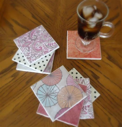homemade coasters diy tile coasters a great way to use homemade mod podge